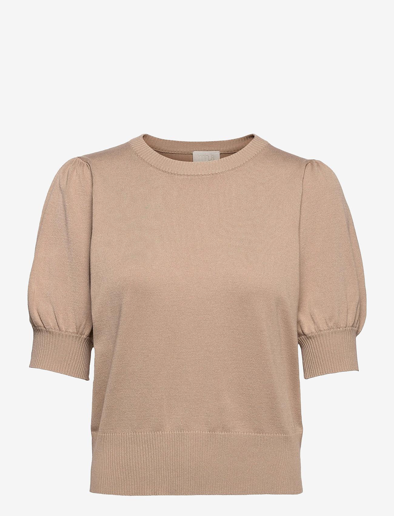 Minus - Liva knit tee - strikkede toppe - nomad sand - 0