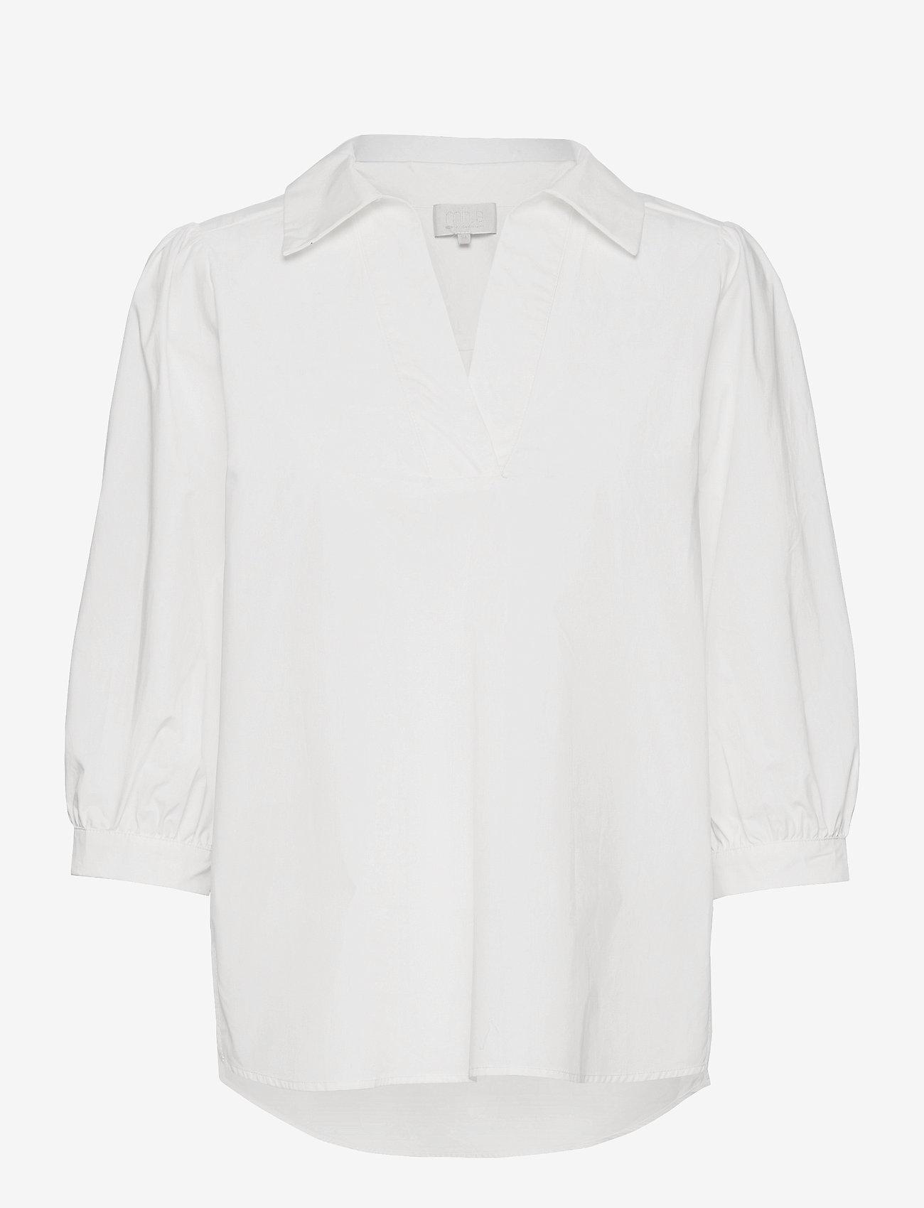 Minus - Mindi tunic - long sleeved blouses - broken white - 0