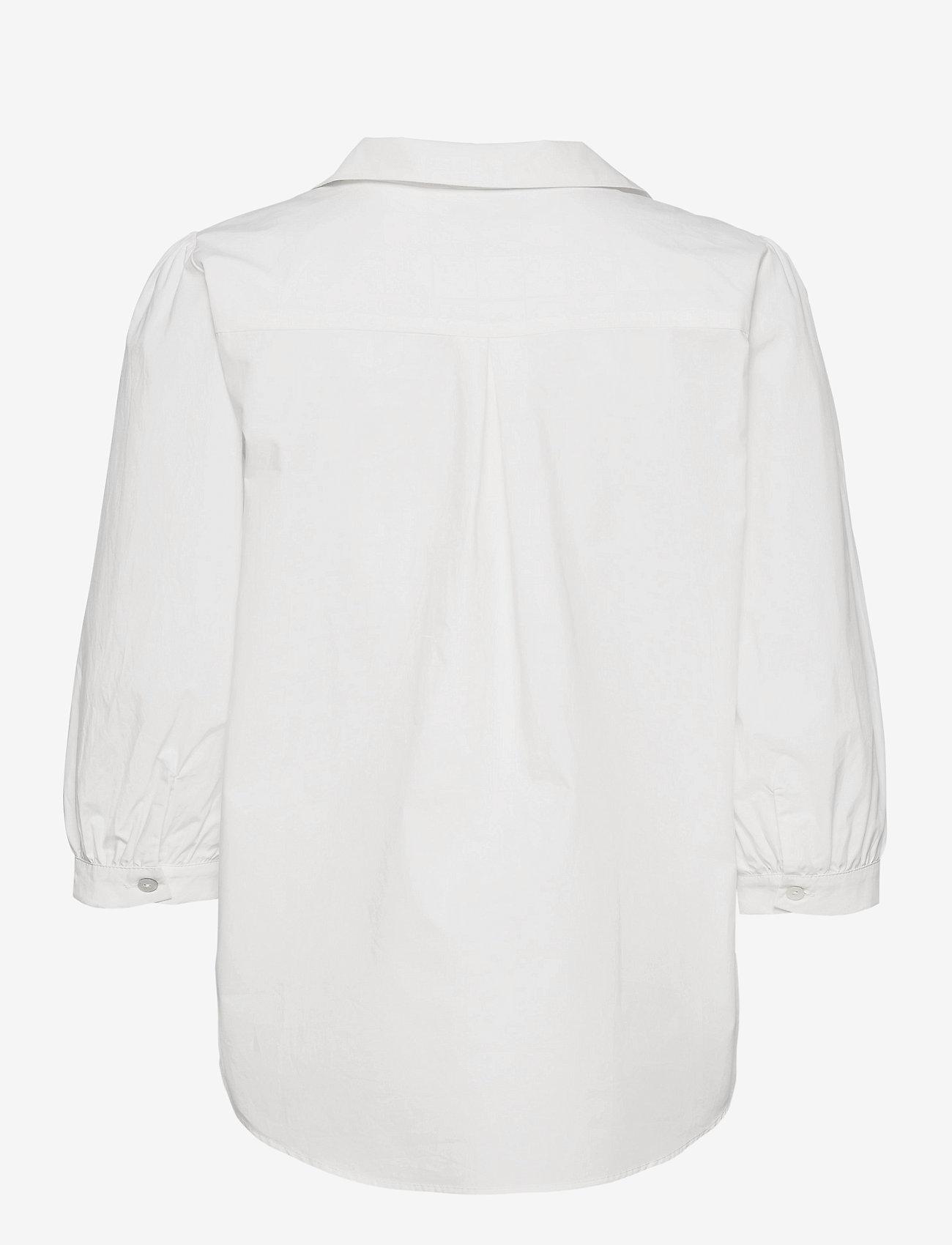 Minus - Mindi tunic - long sleeved blouses - broken white - 1