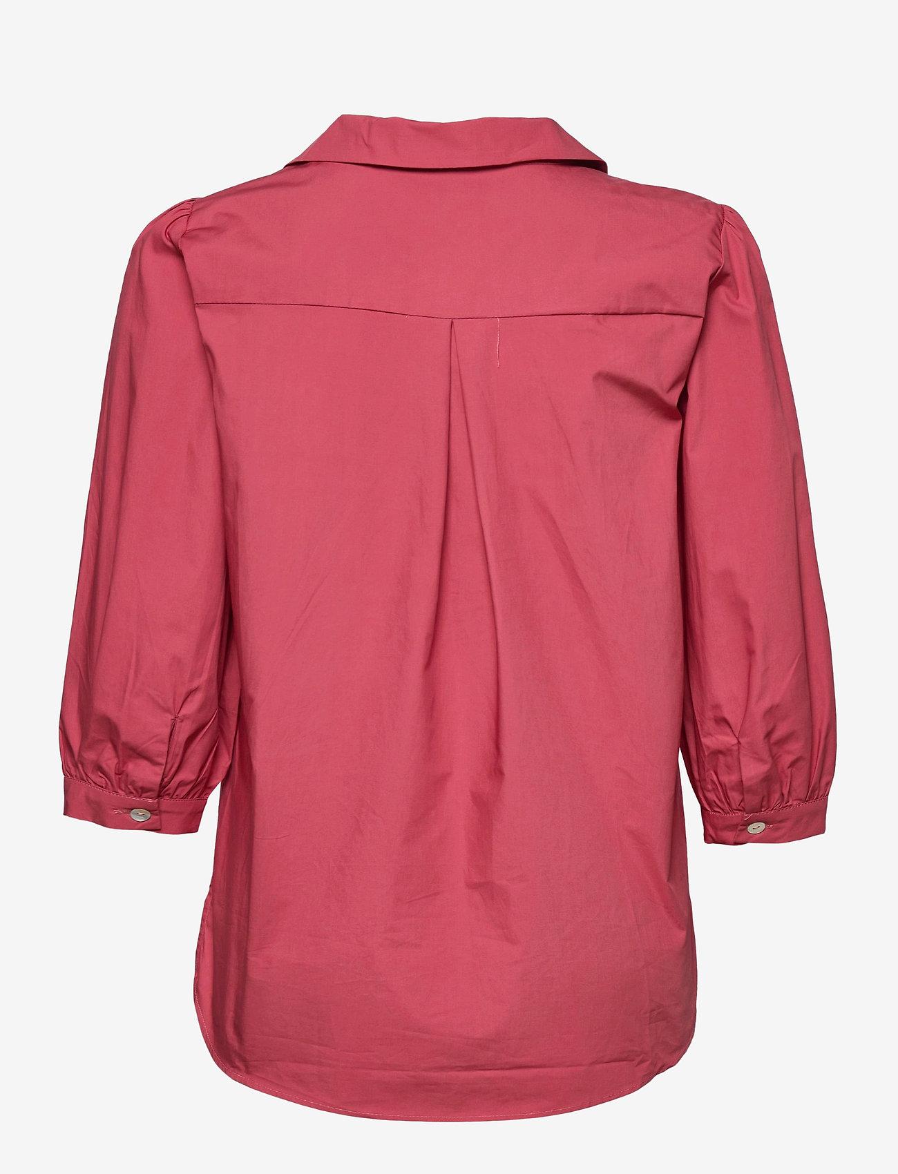 Minus - Mindi tunic - long sleeved blouses - pink lemonade - 1