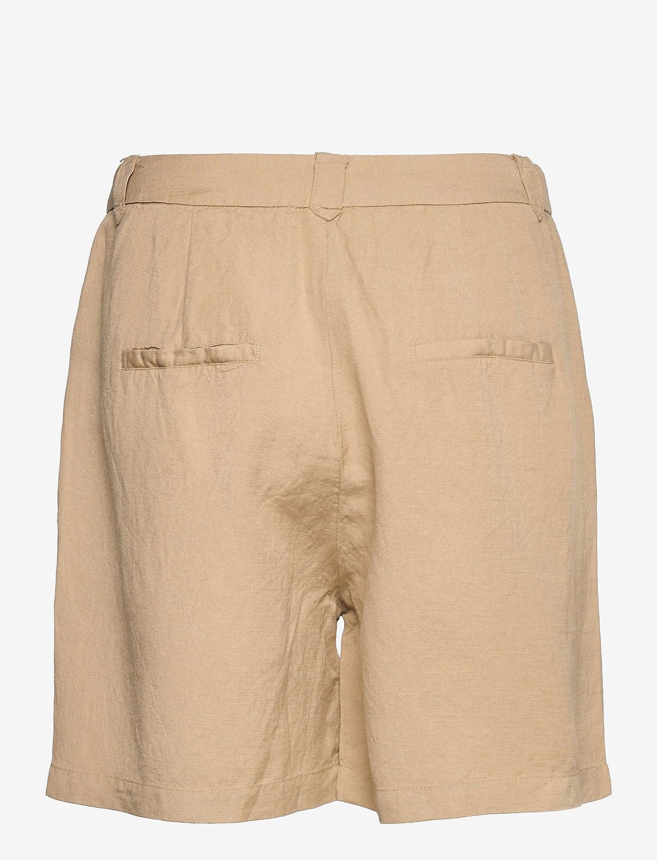 Minus - Makira linen shorts - short chino - nomad sand - 1