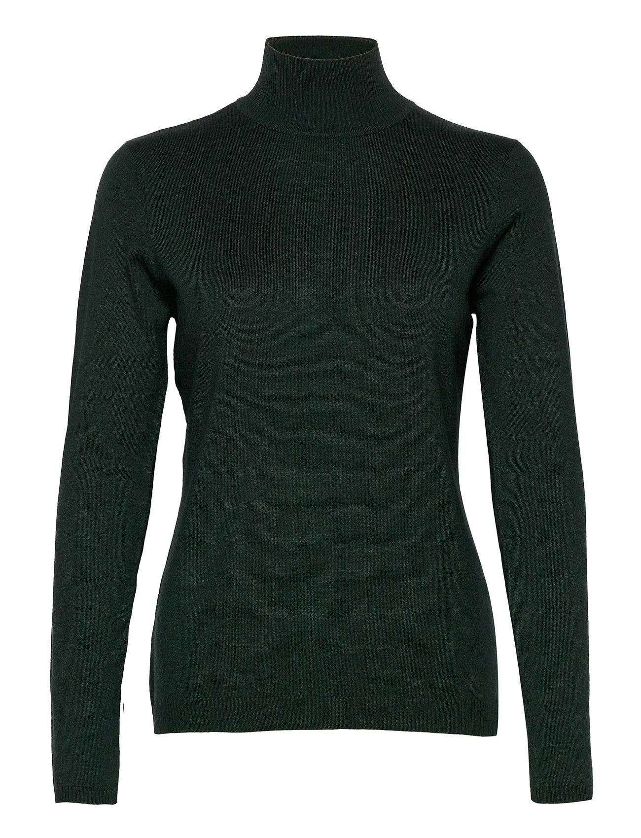 Minus Lana roll neck knit - GREEN GABLES MELANGE