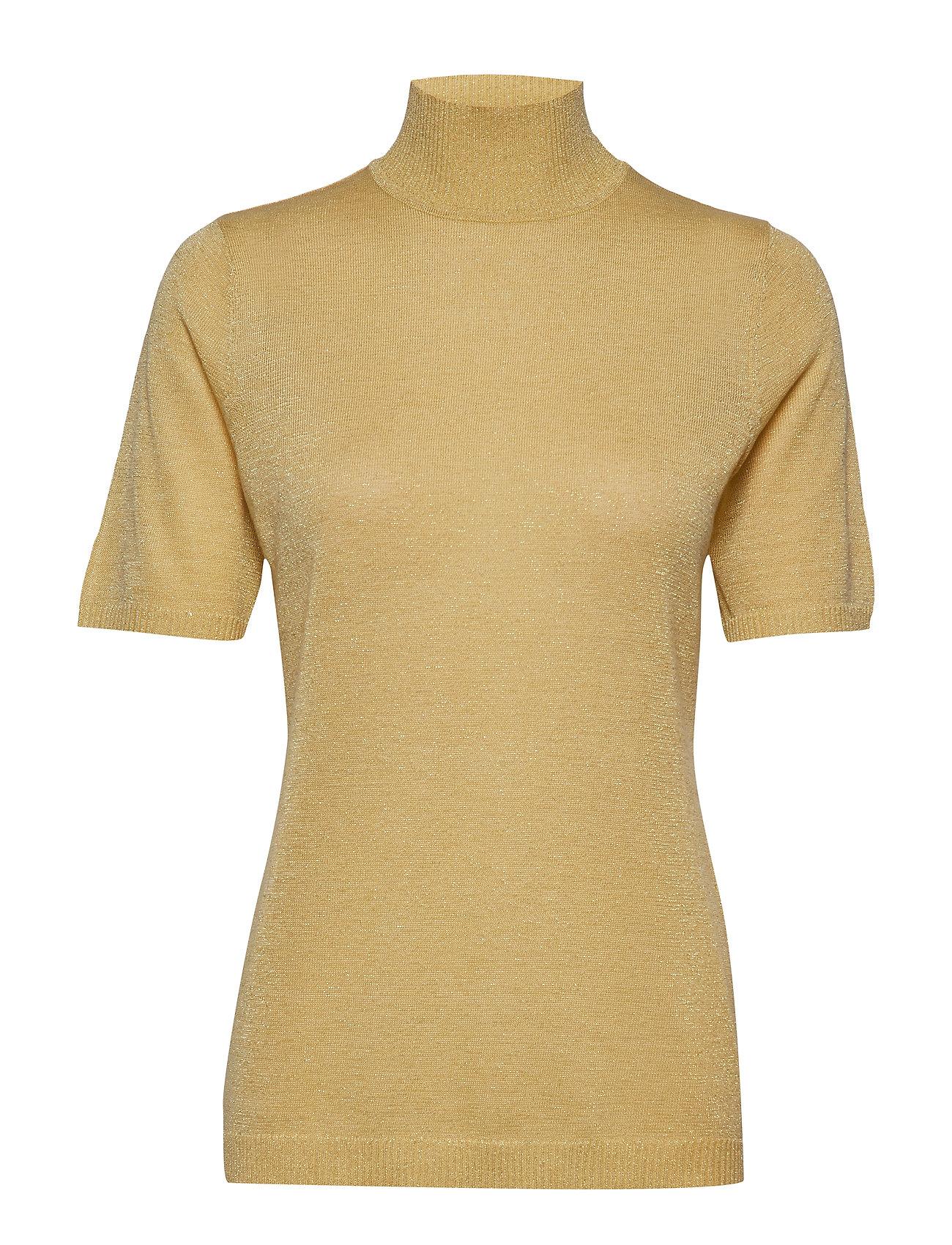 Minus Lima roll neck knit - DUSTY LEMON W/LUREX
