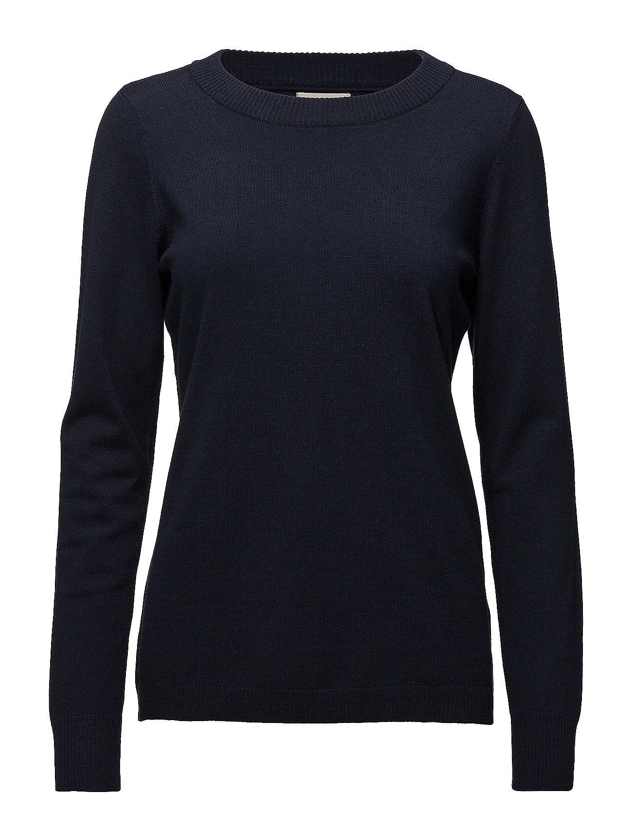 Minus Rilla pullover - BLACK IRIS SOLID