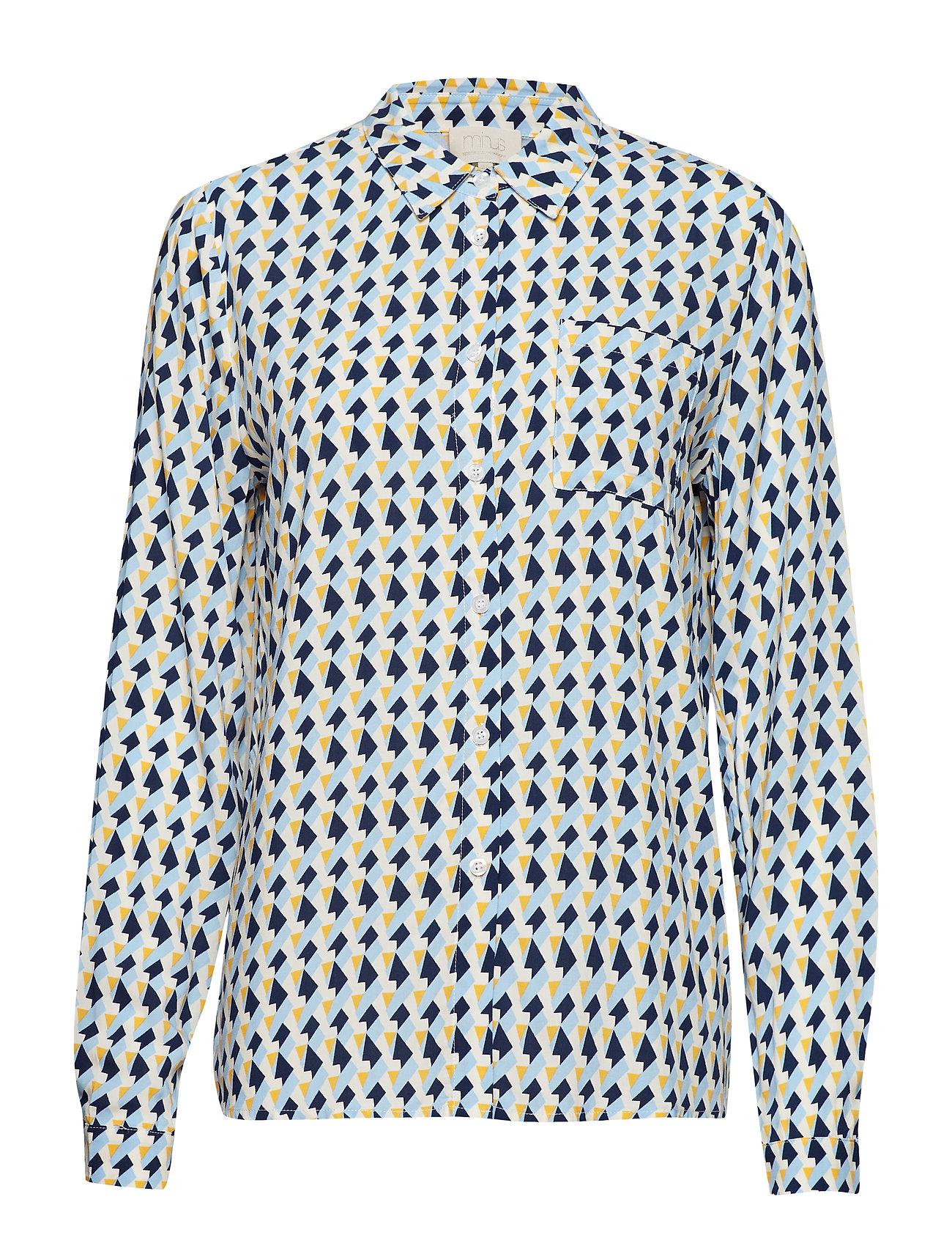 Minus Noelle shirt - PEAK PRINT ICY BLUE