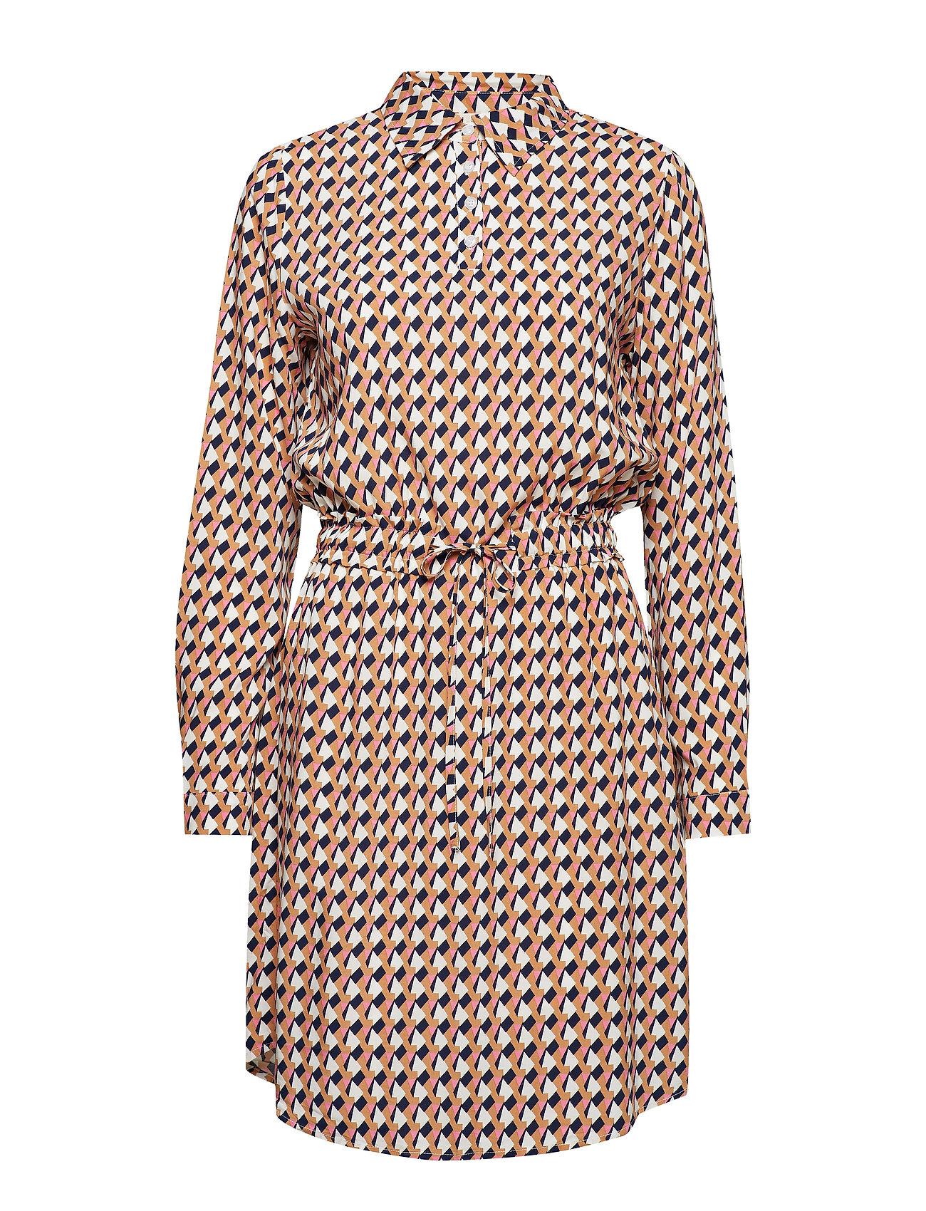 Minus Noelle dress L/S - PEAK PRINT ALMOND