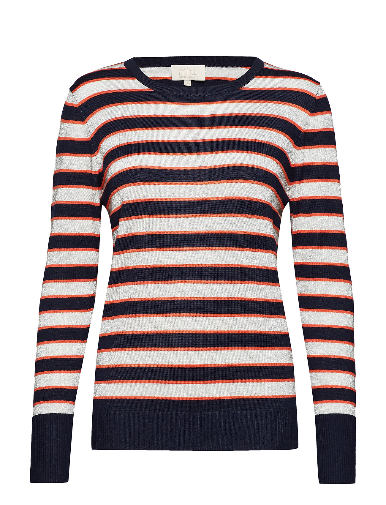 Minus Amara knit pullover - STRIPED BLACK IRIS