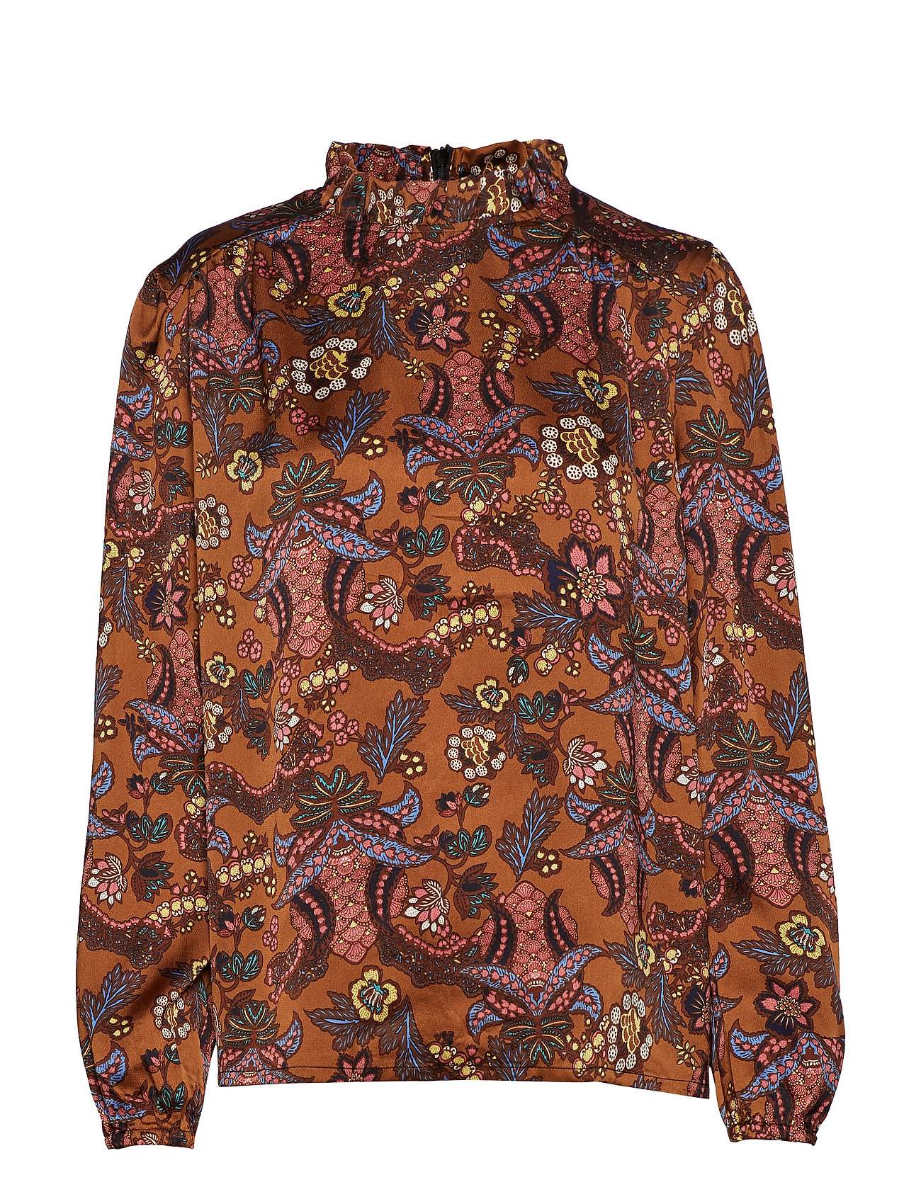 Minus Cardi blouse - AUTUMN BLOOM TOBACCO PRINT