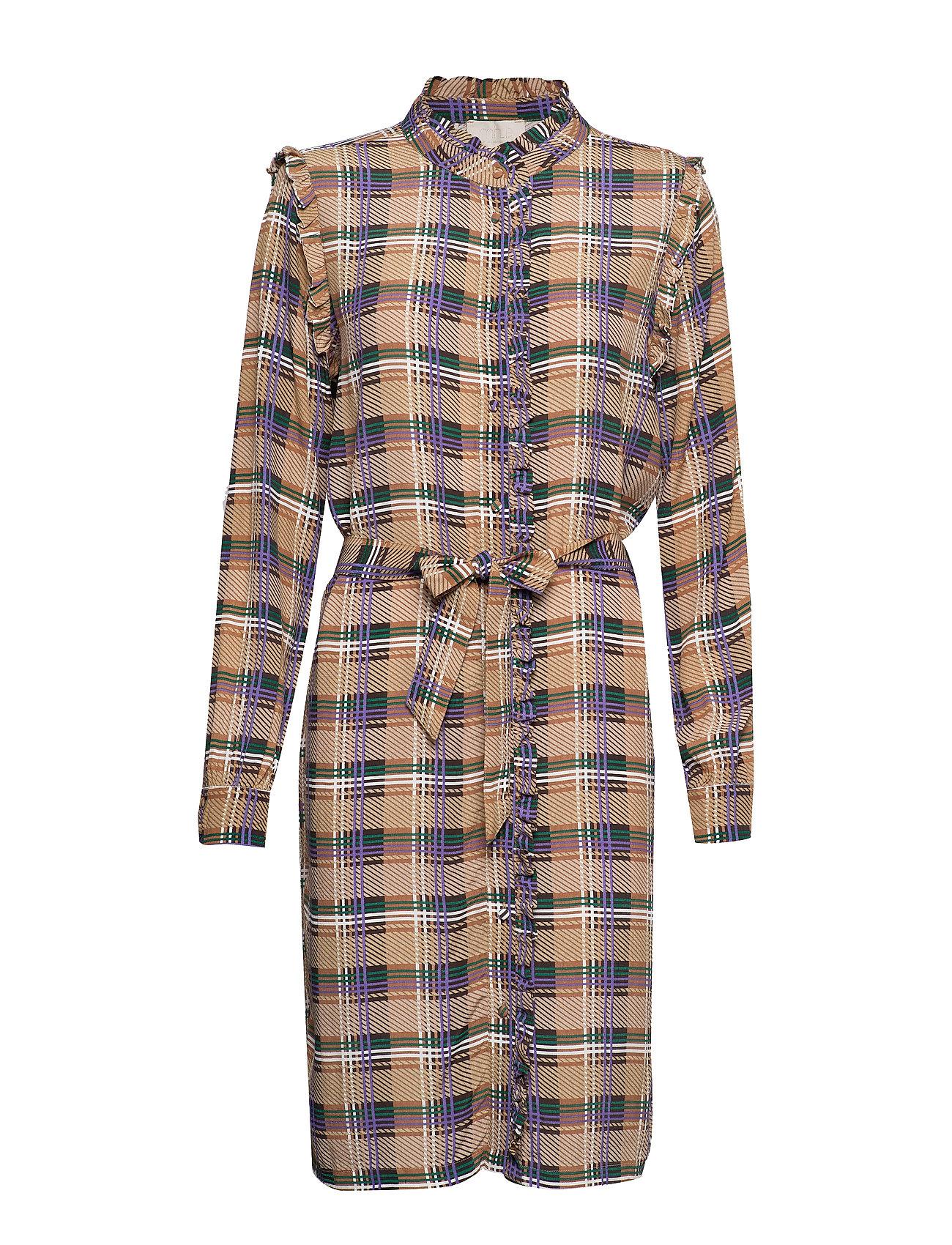 Minus Lota dress - PURPLE ASTER CHECK