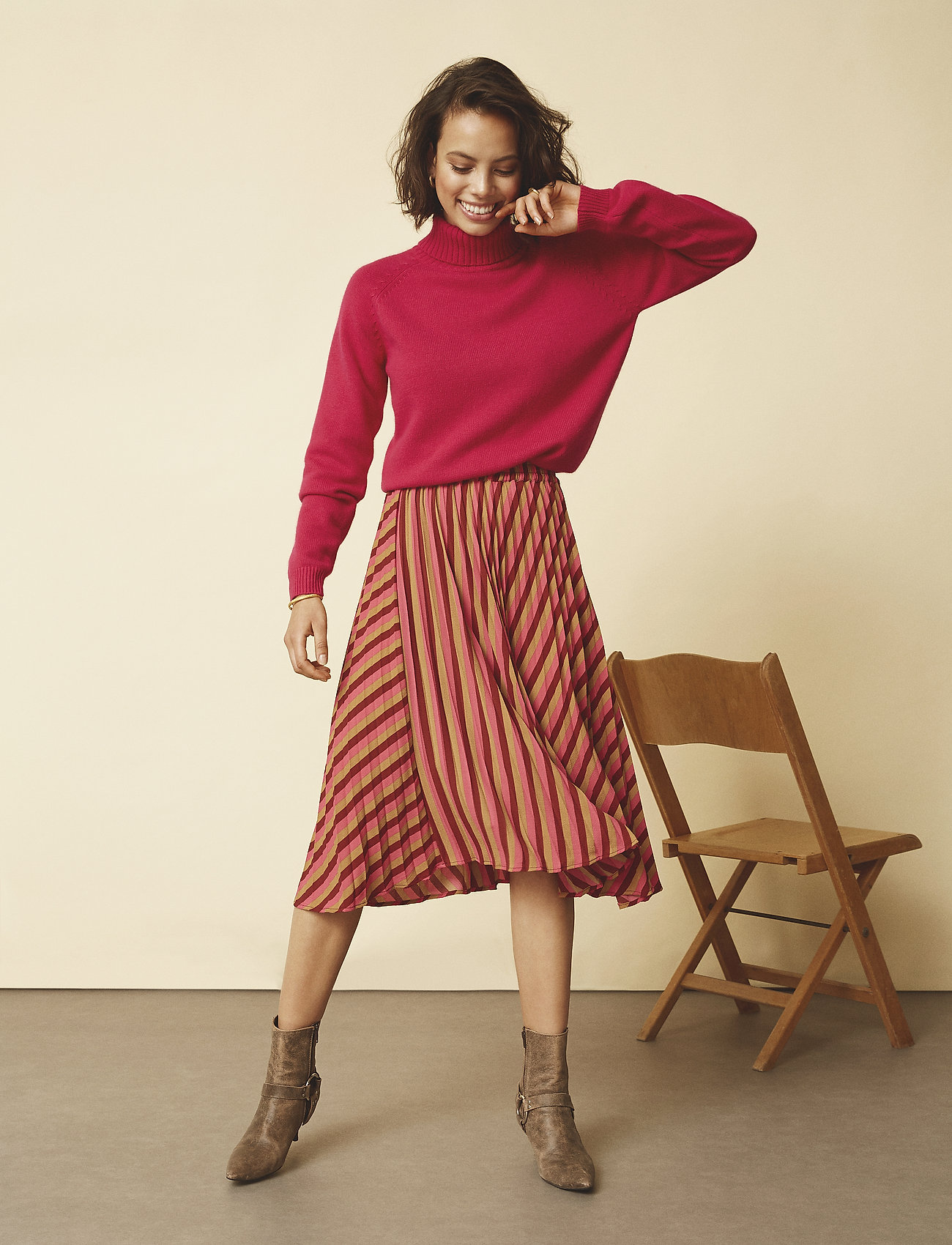 Minus - Nita skirt - midinederdele - striped - 0