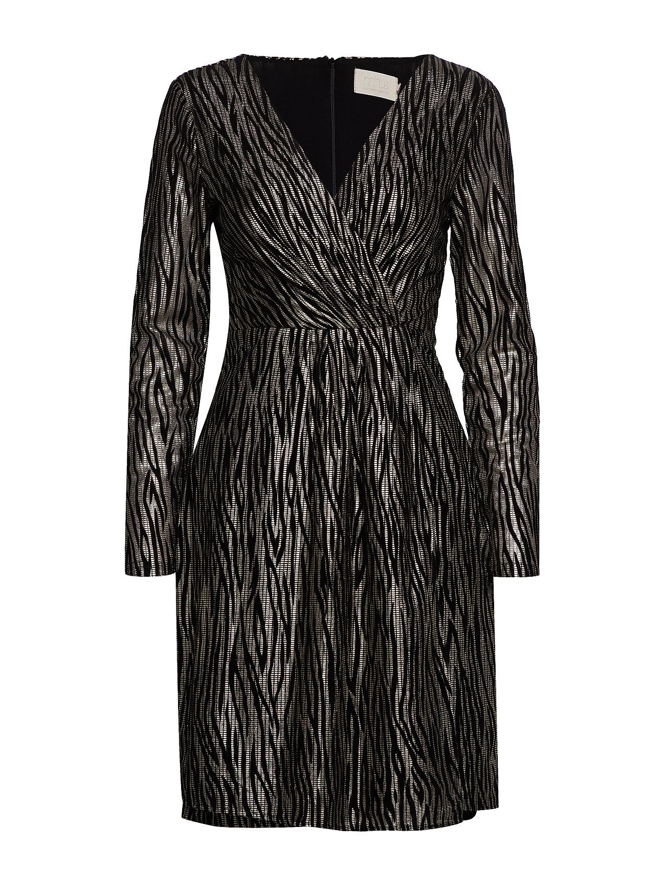 Minus Ilsabeth dress Boozt - BLACK W/GOLD