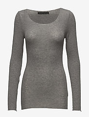 Minus - Claudia top - langærmede toppe - light grey melange - 0