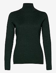 Minus - Lana roll neck knit - turtlenecks - green gables melange - 0
