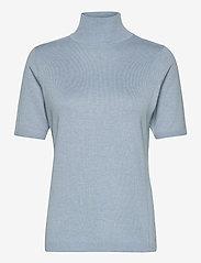 Lima roll neck knit - DUSTY BLUE MELANGE