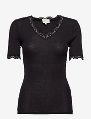 Minus - Ariel short sleeve - basic t-shirts - black - 0