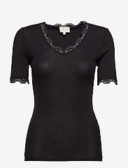Minus - Ariel short sleeve - basic t-shirts - black - 1