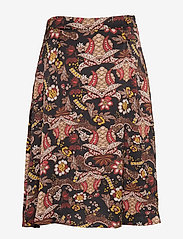 Minus - Cardi skirt - midinederdele - autumn bloom black print - 1