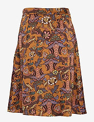 Minus - Cardi skirt - midi skirts - autumn bloom tobacco print - 1