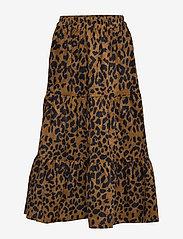 Minus - Olia skirt - midinederdele - brown leo print - 0