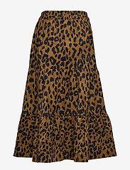 Minus - Olia skirt - midinederdele - brown leo print - 1