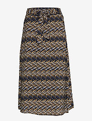 Minus - Faya skirt - midinederdele - blue bay illusion print - 1