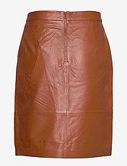 Minus - Torina leather skirt - short skirts - ginger bread - 2