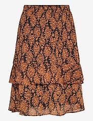 Minus - Leyla skirt - midi skirts - orange sunset flower print - 0