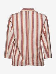 Minus - Mickie blazer - blazers - mineral red stripes - 1