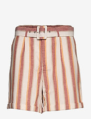Minus - Mickie shorts - casual shortsit - mineral red stripes - 0