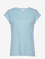 Minus - Leti tee - t-shirts - bounty blue - 0