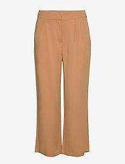 Minus - Emissa pants culotte - bukser med brede ben - almond - 0