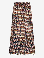 Minus - Mili skirt - maxi skirts - graphic shapes black iris print - 1