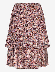 Minus - Vallie skirt - midinederdele - fiery flower print - 0