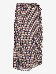 Minus - Mili wrap skirt - midi skirts - graphic shapes black iris print - 0