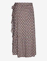 Minus - Mili wrap skirt - midi skirts - graphic shapes black iris print - 1