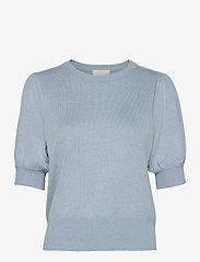 Liva knit tee - DUSTY BLUE MELANGE