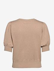 Minus - Liva knit tee - strikkede toppe - nomad sand - 1