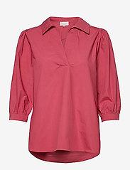 Minus - Mindi tunic - long sleeved blouses - pink lemonade - 0
