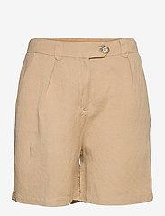 Minus - Makira linen shorts - short chino - nomad sand - 0