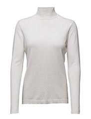 Lana roll neck knit - BROKEN WHITE
