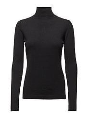 Lana roll neck knit - BLACK
