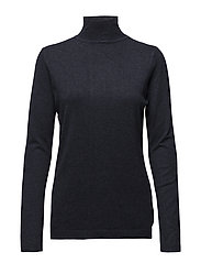 Lana roll neck knit - BLACK IRIS MELANGé