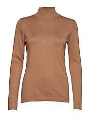 Lana roll neck knit - TOBACCO MELANGE