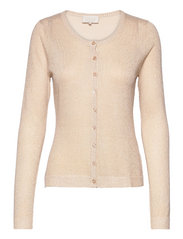 New Laura cardigan - MEDAL GOLD MELANGE/LUREX