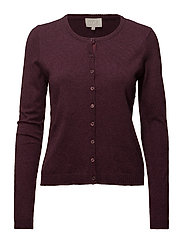 New Laura cardigan - SASSAFRAS BORDEAUX MELANGE