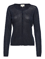 New Laura cardigan - BLACK IRIS/BLACK IRIS LUREX