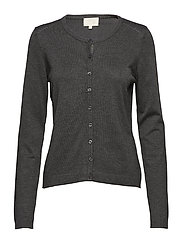 New Laura cardigan - DARK GREY MELANGE