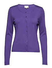 New Laura cardigan - PURPLE HAZE MELANGE