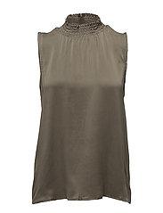 Ea silk blouse - TARMAC