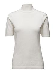 Lima roll neck knit - BROKEN WHITE